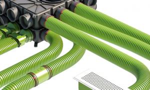 szellőzőhálózat ágvezetékeinek kiépítése osztódobozzal